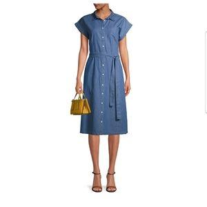 Denim Belted Dress